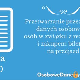 Decyzja GIODO ws.przetwarzania przez Spółkę danych osobowych osób w związku z rezerwacją i zakupem biletów na przejazd
